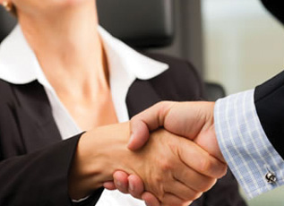 raleigh divorce attorney shaking hands