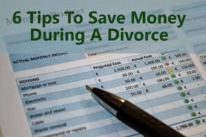 how to save money during a divorce