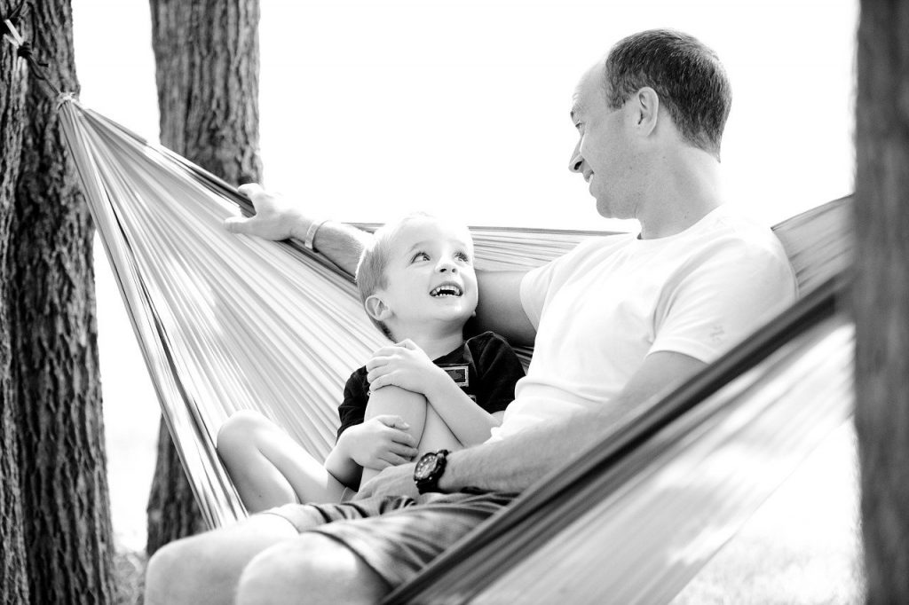 father and son in a hammock to determining the best interest of the child in north carolina