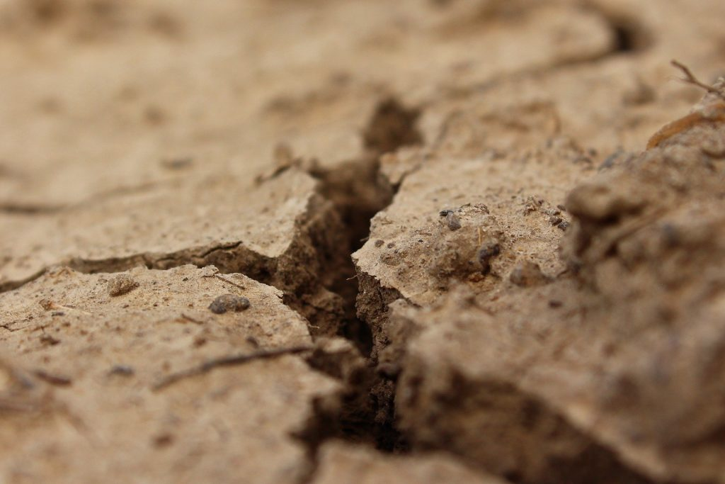 A crack in the ground to represent a crack within a marriage