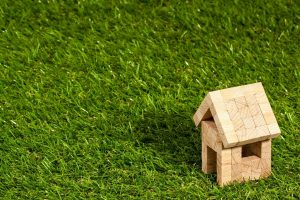 Small wooden house on green grass to represent marital property in NC
